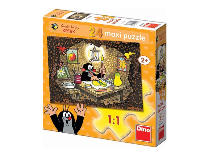 Maxi puzzle Krteček maluje - 24 maxi dílků