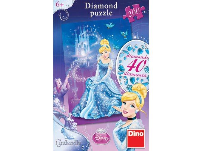 Walt Disney: Popelka - diamond - včetně 40 samolepících kamínků