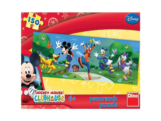 Walt Disney: Mickyho klub Hurá - panoramatické - 150 dílků