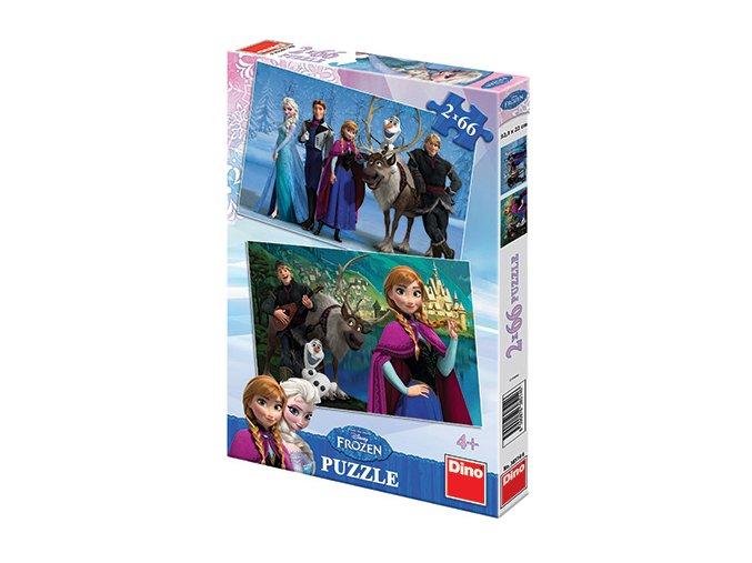 Walt Disney - Frozen: Ledové království - 2 x 66 dílků