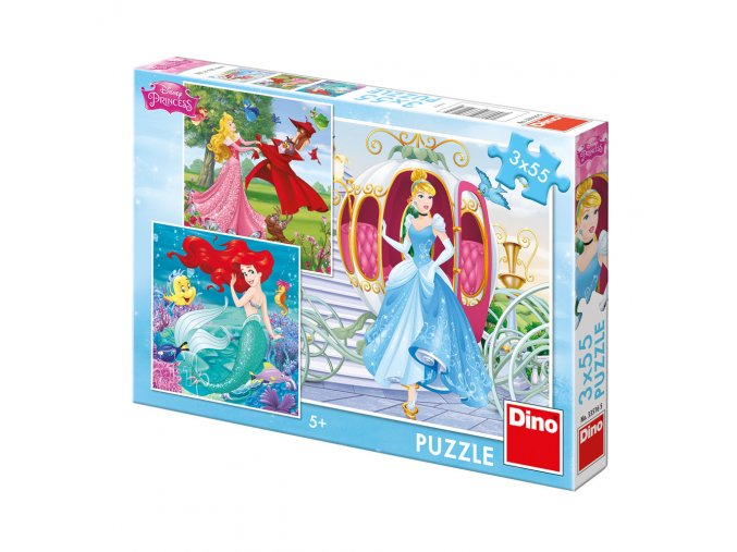 Walt Disney: Já jsem princezna - 3 x 55 dílků