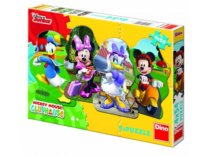 Walt Disney: Mickey a kamarádi - 4 x 54 dílků