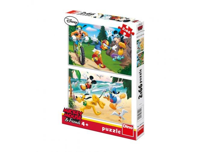 Walt Disney: Mickey sportuje - 2 x 66 dílků