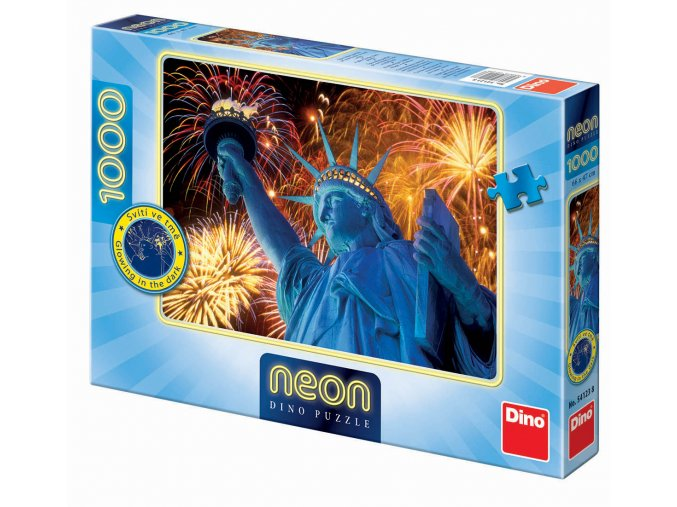 Zářící Socha Svobody - neon - svítící