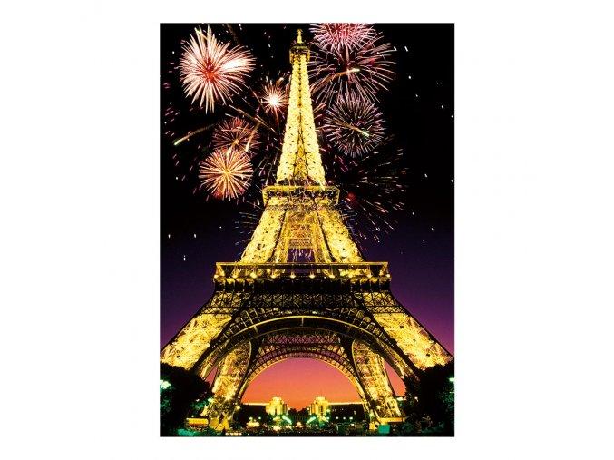 Noční Eiffelovka - neon - svítí ve tmě