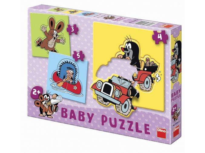 Baby puzzle pro nejmenší - Krteček a kamarádi - 3, 4, 5 dílků