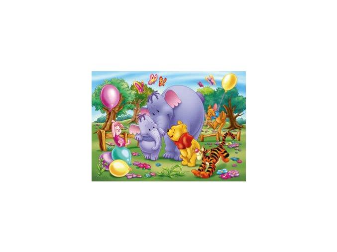 Medvídek Pú - balónky - maxi puzzle