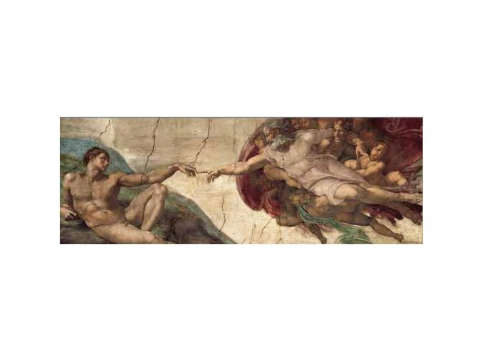 Michelangelo: Stvoření Adama - Art Stones - panorama