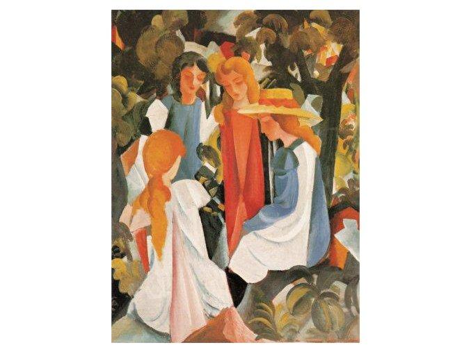 August Macke: Four Girls