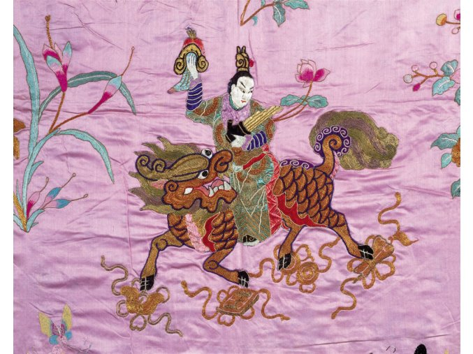 Chinese art: Chinese God and fire kylin