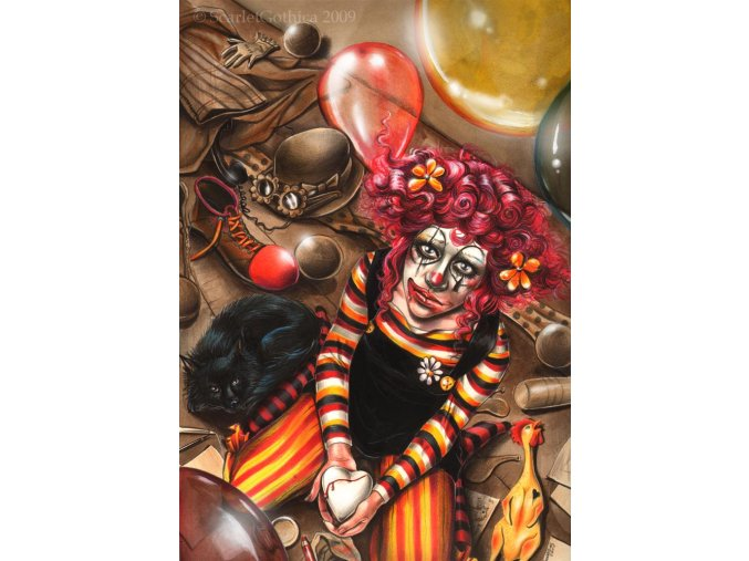 Scarlet Gothica: Clown girl