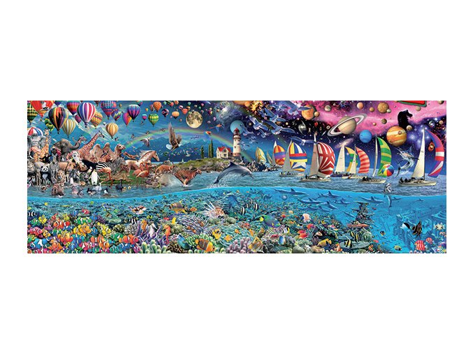 Život (Life) - panorama - 3. největší puzzle na světě