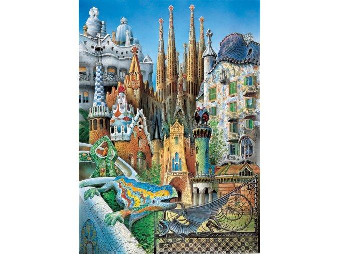 Miniatura: Gaudi - Koláž