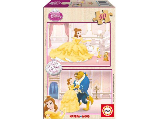 Walt Disney: Kráska a zvíře - dřevěné - 2 x 50 dílků