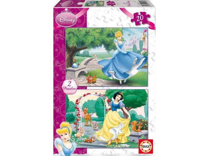 Sněhurka a Popelka (Snowwhite and Cinderella) - 2 x 20 dílků