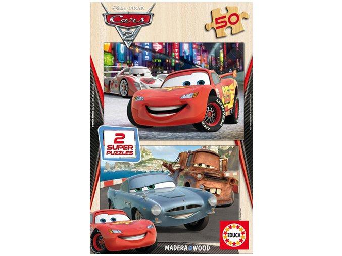 Walt Disney: Cars 2 - dřevěné - 2 x 50 dílků