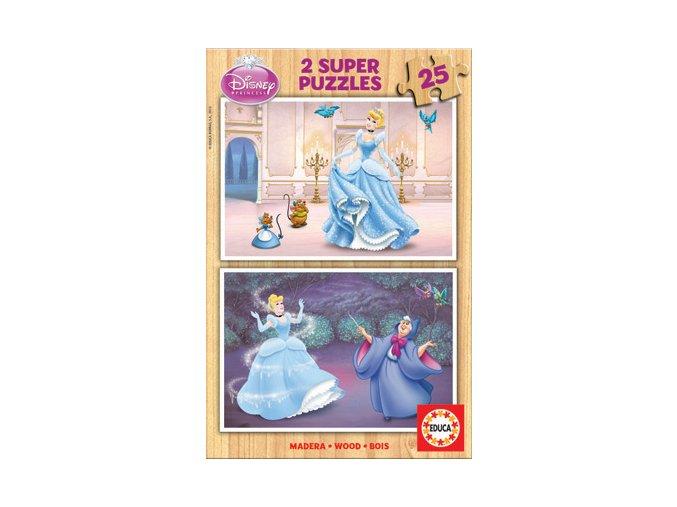 Walt Disney: Popelka - dřevěné - 2 x 25 dílků