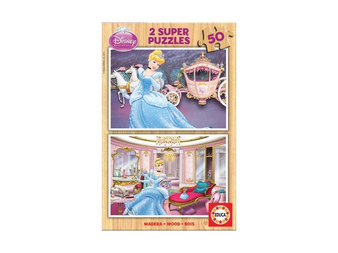 Walt Disney: Popelka - dřevěné - 2 x 50 dílků