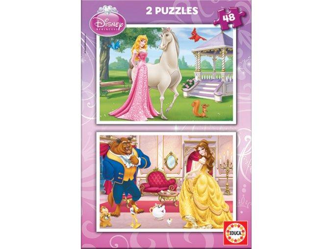 Walt Disney: Šípková Růženka a Kráska - 2 x 48 dílků