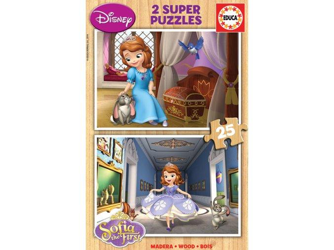 Walt Disney: Sofie První - dřevěné 2 x 25 dílků