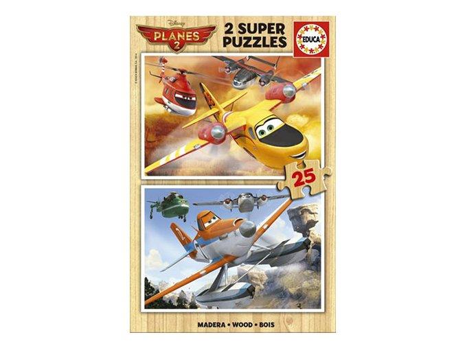 Walt Disney: Letadla Záchranná akce - dřevěné - 2 x 25 dílků