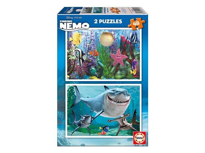 Walt Disney: Hledá se Nemo - 2 x 48 dílků