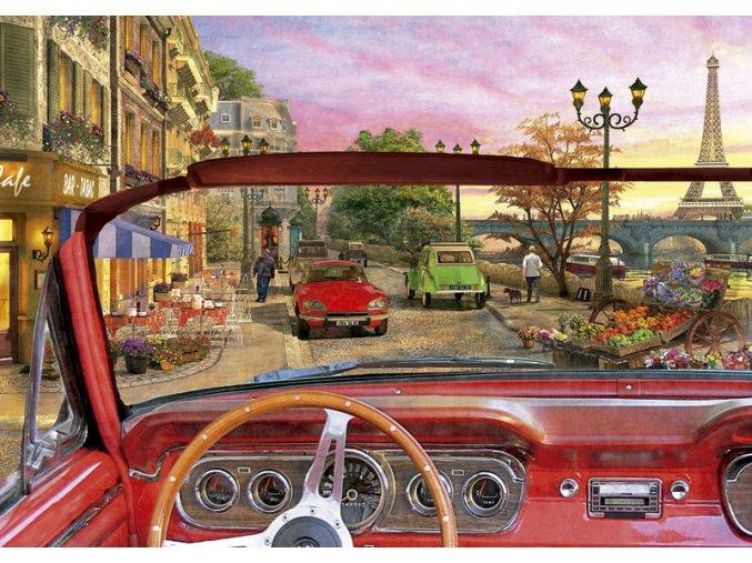 Paříž v autě