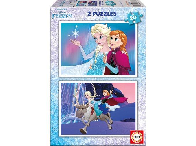 Walt Disney: Frozen - 2 x 20 dílků