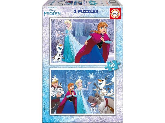 Walt Disney: Frozen - 2 x 48 dílků