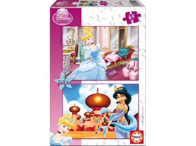 Walt Disney: Popelka a Jasmína - 2 x 48 dílků
