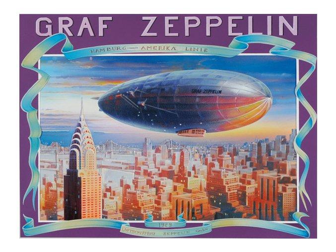 Vzducholoď Graf Zeppelin nad New Yorkem