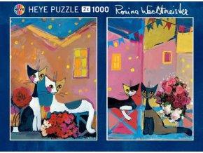 Rosina Wachtmeister: Kočky 2 x 1000 dílků