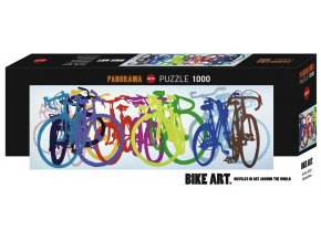 Bike Art: Colourful Row - panorama