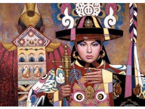Karl Bang: Šamanka z orientu - metallic - s kovovou růžovou fólií