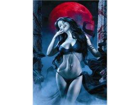 Upírka a rudý měsíc (Puzzle mit Biss - Frau mit rotem Mond)