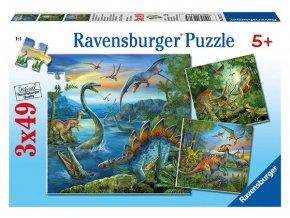 Dinosauři - 3 x 49 dílků