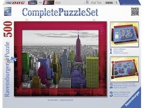 Barvy New Yorku (New York Colours) - puzzle s rámečkem a lepidlem