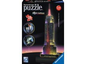 Empire State Building - Noční edice (Night Edition) - 3D svítící LED - 216 dílků