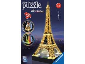 Eiffelova věž - Noční edice (Night Edition) - 3D svítící LED - 216 dílků