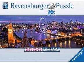 Londýn v noci - panorama
