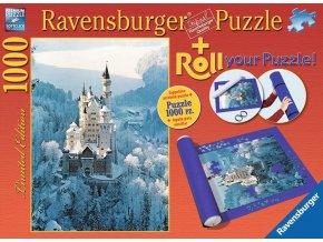 Zámek Neuschwanstein + podložka na skládání puzzle