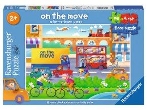 V pohybu - podlahové puzzle - od 2 let