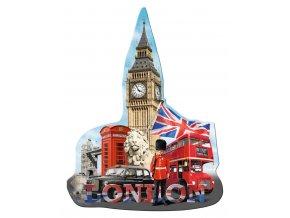 Londýn: Big Ben - silueta - 1155  dílků