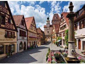 Německo, Rothenburg - Gold edition - puzzle s většími dílky