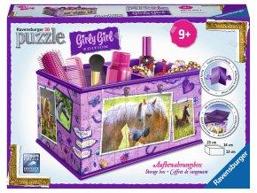 Girly Girl - Skladovací box: Koně - 3D