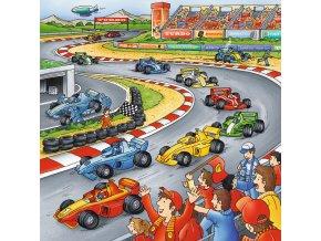 Závodní a dopravní prostředky - 3 x 49 dílků