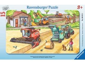 Sklizeň obilí - deskové v rámečku