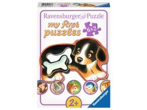 Moje první puzzle: Oblíbená jídla zvířátek  - 6 x 2 dílky