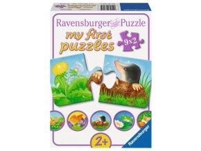 Moje první puzzle: Zvířátka ze zahrady - 9 x 2 dílky