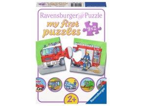 Moje první puzzle: Dopravní prostředky - 9 x 2 dílky